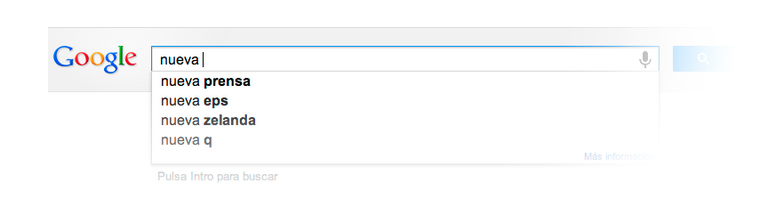 Google Suggest hizo que aparecieran sugerencias cuando introducíamos un término de búsqueda