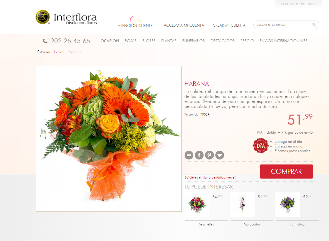 Descripciones Interflora