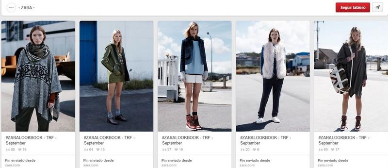 Escaparate de los looks creados con productos de Zara