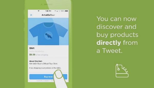 Twitter pone a prueba su botón de compra directa a través de la red social