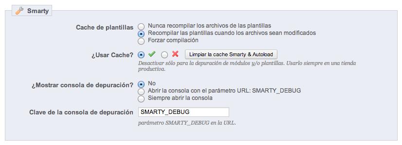 Smarty-Cache-Prestashop