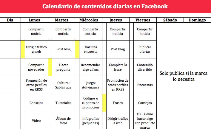 Calendario Editorial de Vilma Nuñez