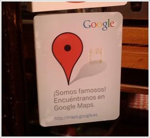 Pegatina Google Places
