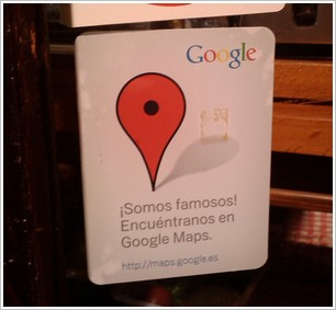 Pegatina Google Places