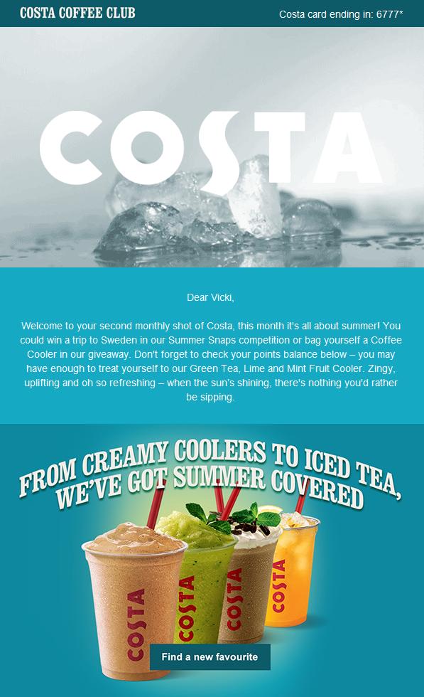Costa Café. Aprovechar el momento oportuno