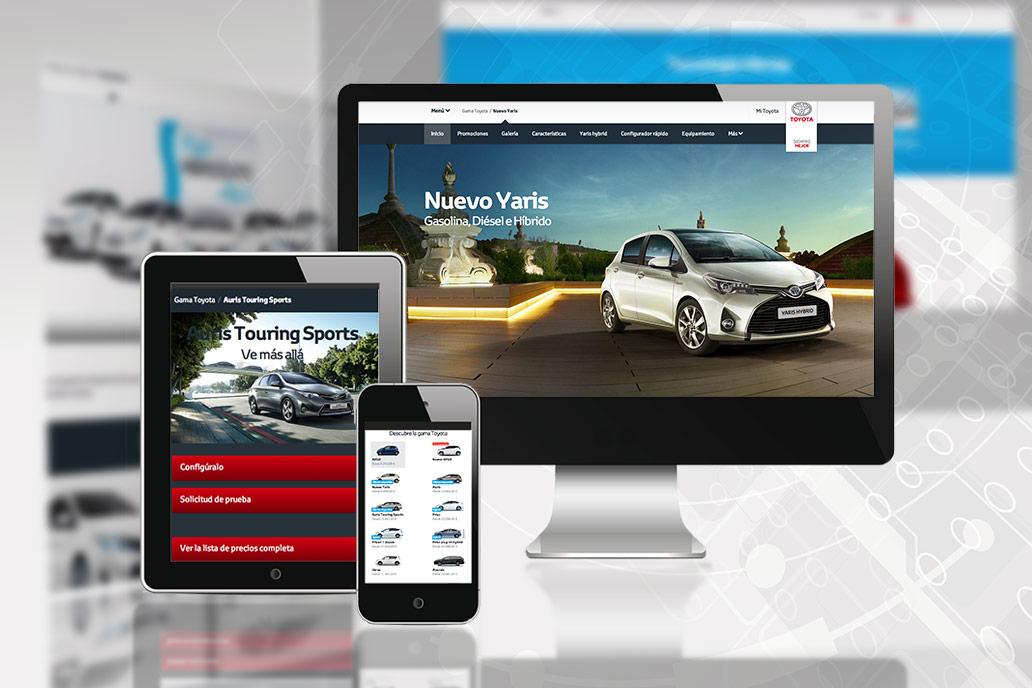 Toyota, una de las grandes marcas que se ha apuntado al diseño responsive